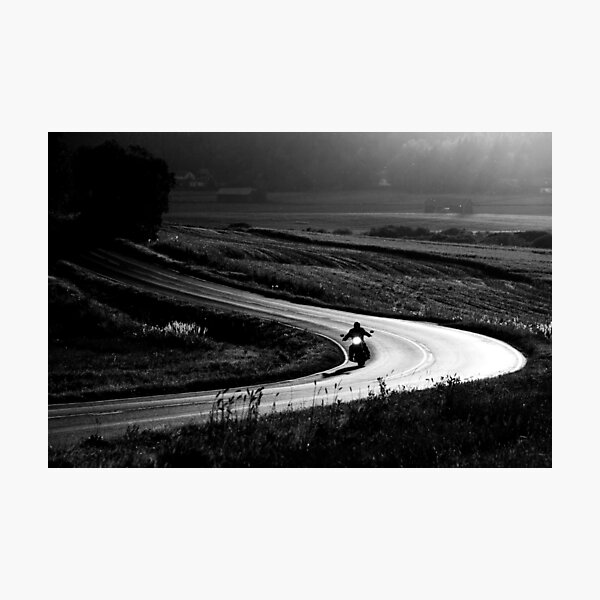4.9.2014: Motorcycle on the Road Photographic Print
