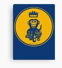 Octochimp - single colour Canvas Print