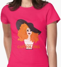 Jinkx Monsoon in Capitol Hill by Kevin Harris Womens Fitted T-Shirt