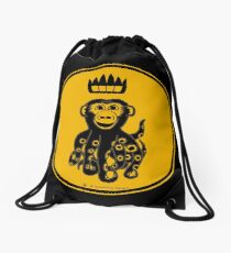 Octochimp - single colour Drawstring Bag
