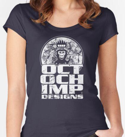 Octochimp Designs Women's Fitted Scoop T-Shirt