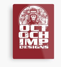 Octochimp Designs Metal Print
