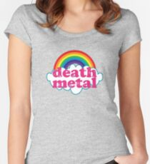 Death Metal Rainbow (Original) Women's Fitted Scoop T-Shirt