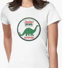 Sinclair Dino Gasoline vintage sign distressed Women's Fitted T-Shirt
