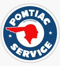 Pontiac Authorized Service vintage sign reproduction Sticker