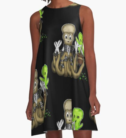 Eduardo Scissor Tentacles A-Line Dress