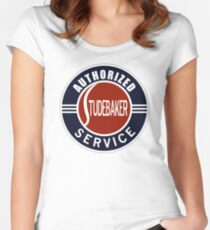 Authorized Studebaker Service vintage sign Women's Fitted Scoop T-Shirt