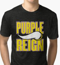 Viking Purple Reign - Trendy Design Tri-blend T-Shirt