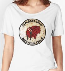 Red Indian Gasoline vintage sign reproduction rusted vers. Women's Relaxed Fit T-Shirt