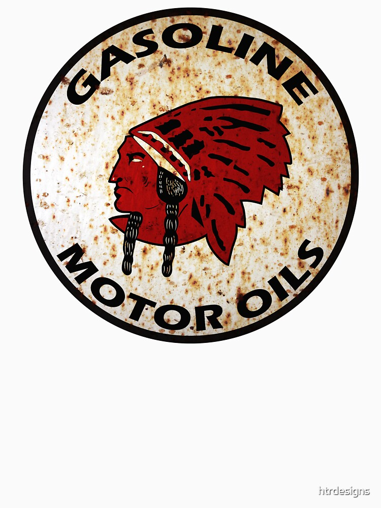 Red Indian Gasoline vintage sign reproduction rusted vers. | Unisex T-Shirt