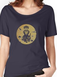 Acid Washed Octochimp Women's Relaxed Fit T-Shirt