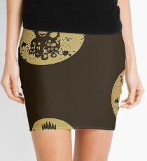 Acid Washed Octochimp Mini Skirt