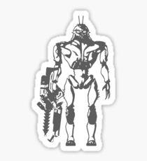 Prawn Soldier Sticker