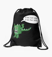 I AM NOT SMALL ! Drawstring Bag