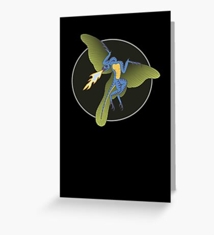 Archaeopteryx (the fire breathing kind) Greeting Card