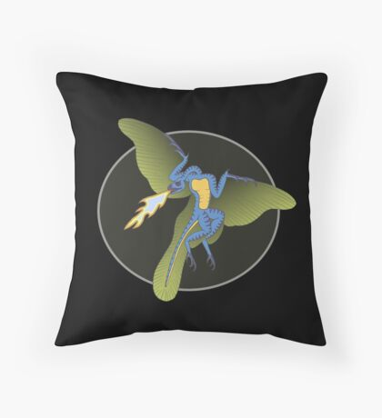 Archaeopteryx (the fire breathing kind) Throw Pillow