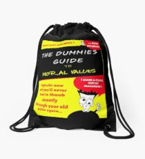 Moral Values for Dummies Drawstring Bag