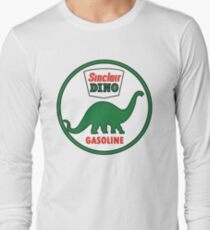 Sinclair Dino Gasoline vintage sign flat version Long Sleeve T-Shirt
