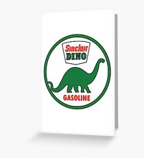 Sinclair Dino Gasoline vintage sign flat version Greeting Card