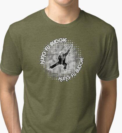 Budgie Style Kung Fu Tri-blend T-Shirt