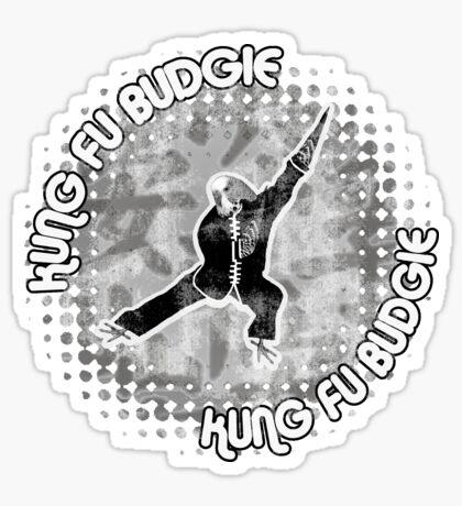Budgie Style Kung Fu Sticker