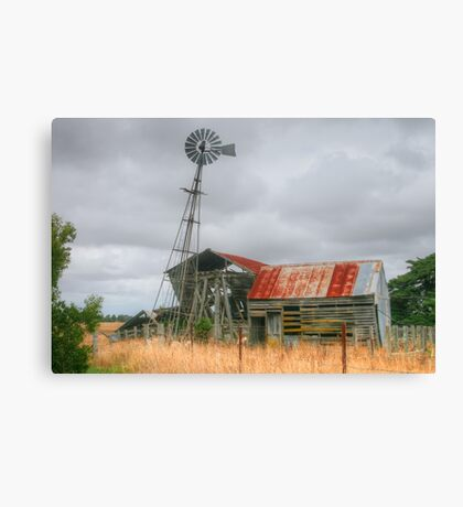 A lean to the left & a lean to the right Canvas Print