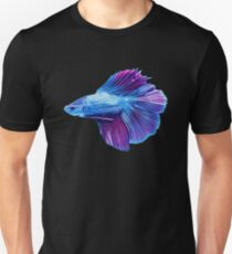 Emerald Blue Betta Siamese Fish Unisex T-Shirt