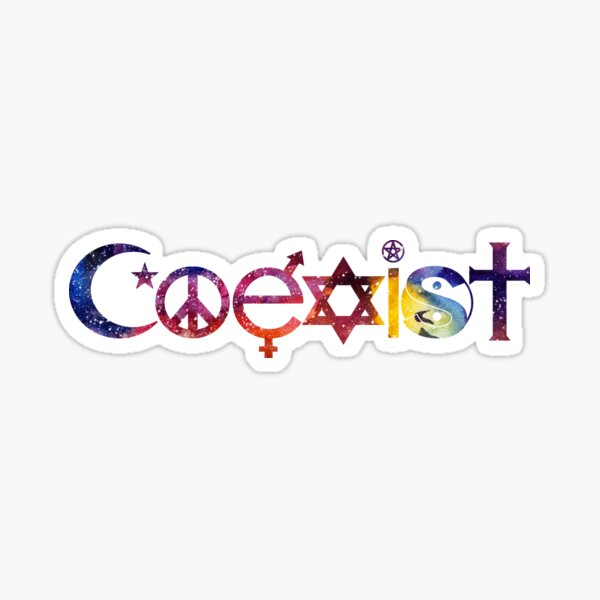 COEXIST Space Sticker