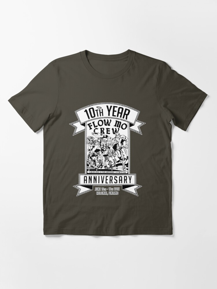 """Alternate view of Flow Mo 10th Year Anniversary """"SUPER HEROES"""" Shirt Essential T-Shirt"""