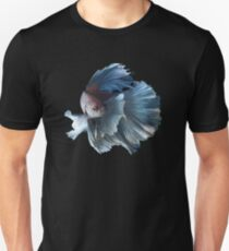 White Angel Siamese Betta Fish Unisex T-Shirt