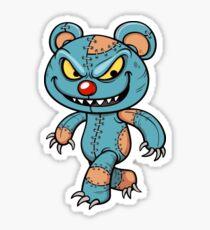 Evil Scary Teddy Bear Halloween Zombie Sticker