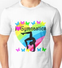 PRETTY I LOVE GYMNASTICS DESIGN Unisex T-Shirt