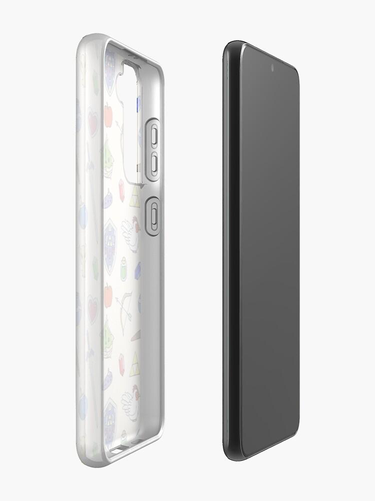 Alternate view of Zelda pattern Case & Skin for Samsung Galaxy