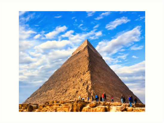 Wonders of Antiquity - Egyptian Pyramid by Mark Tisdale
