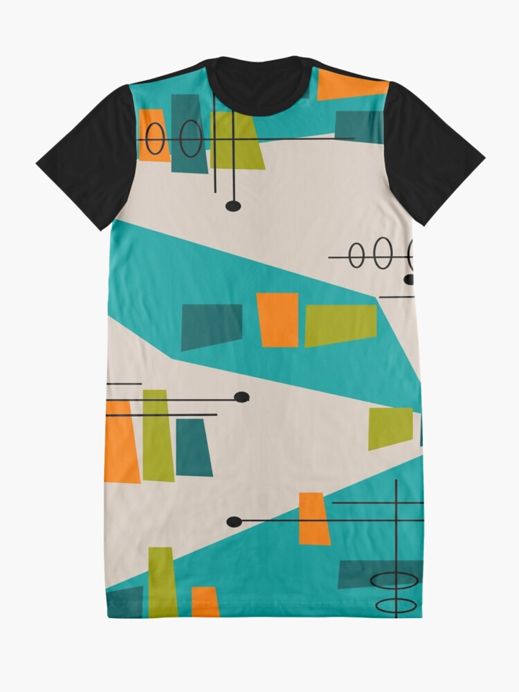 Alternative Ansicht von Mid-Century Modern Abstrakt Space Age T-Shirt Kleid