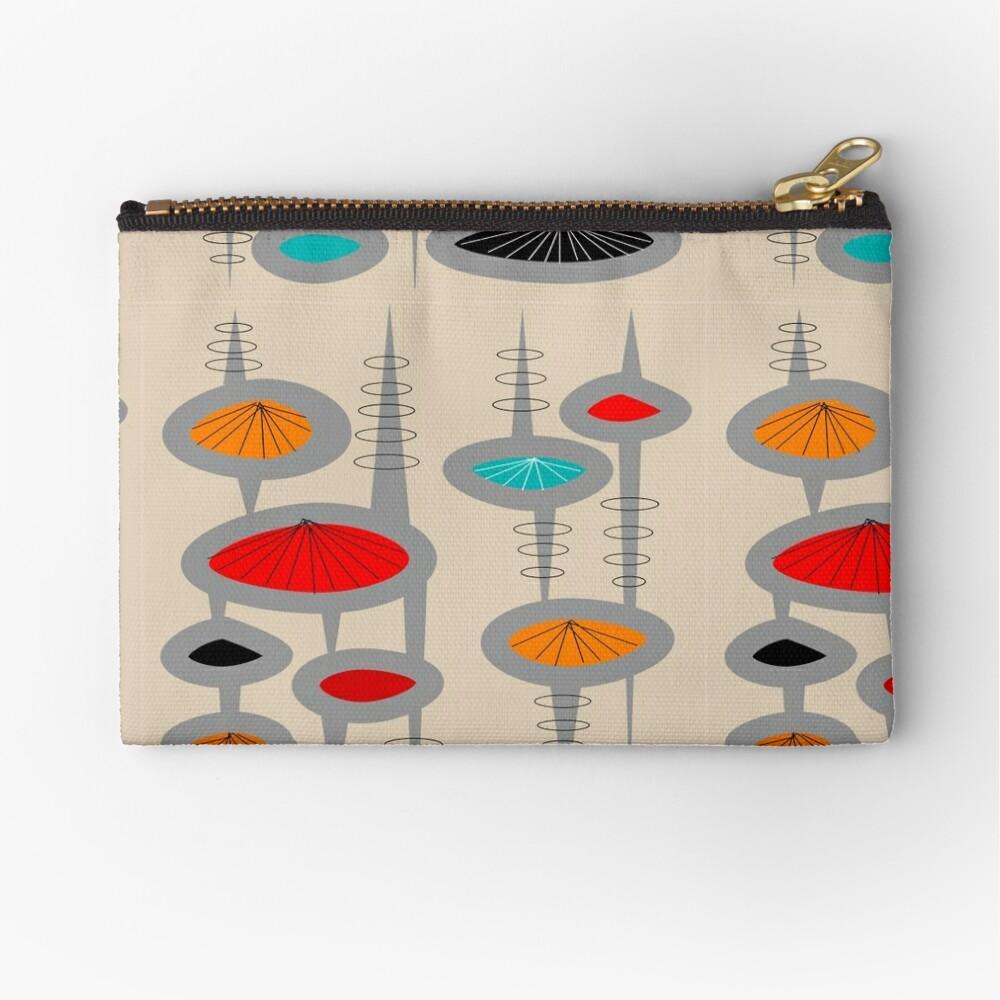 Atomic Era Inspired Art Zipper Pouch