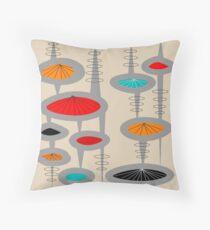Atomic Era Inspired Art Throw Pillow