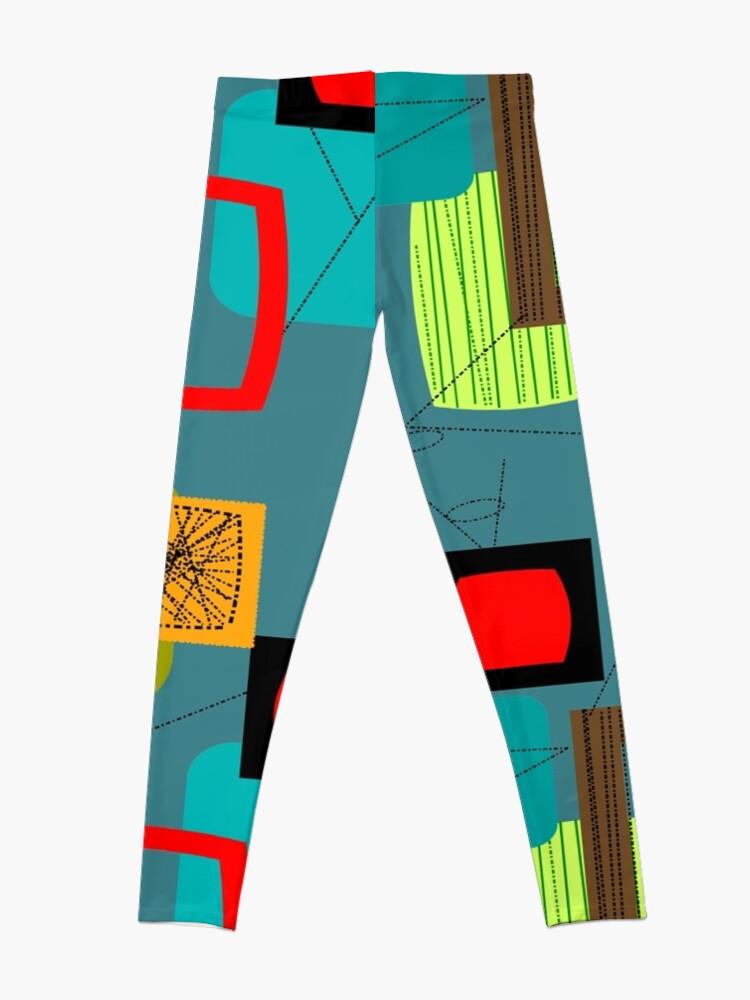 Alternate view of Mid-Century Modern Abstract Art III Leggings