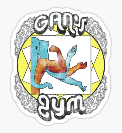 Gan's Gym - vintage Sticker