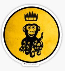King Octochimp Says Hi Sticker