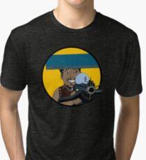 Z-140 (Alleviated titanium. Neurocharged assault model) Tri-blend T-Shirt