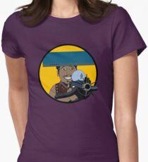 Z-140 (Alleviated titanium. Neurocharged assault model) Womens Fitted T-Shirt