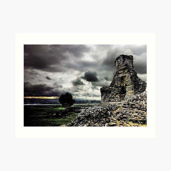 Hadleigh Castle & Thames Estuary Art Print