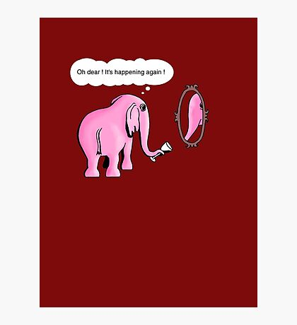 I drink to get trunk Photographic Print