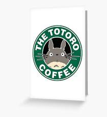 The Anime Coffee Greeting Card