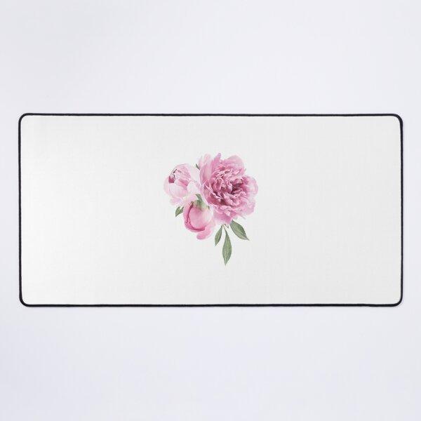 Pink Flower Desk Mat