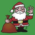 Santa Claus waving by cardvibes