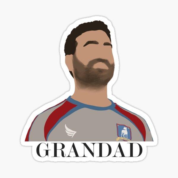 Grumpy Football Player Sticker