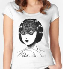 Woman With Special Eyeball Women's Fitted Scoop T-Shirt