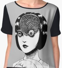 Woman With Special Eyeball Chiffon Top
